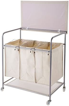 Nova Furniture Group Heavy Duty Laundry Sorter with Ironing Board & wheels