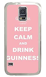 Keep Calm And Drink Guinness PC Transparent Hard Case Cover Skin For Samsung Galaxy S5 I9600