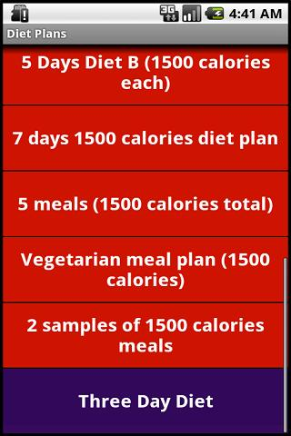 Amazon Com 1200 And 1500 Calories Diets Appstore For Android