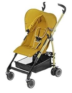 Maxi-Cosi 74503380 Mila - Silla de paseo con capota, cesta de compra, protector para la lluvia y adaptador para el capazo, color amarillo