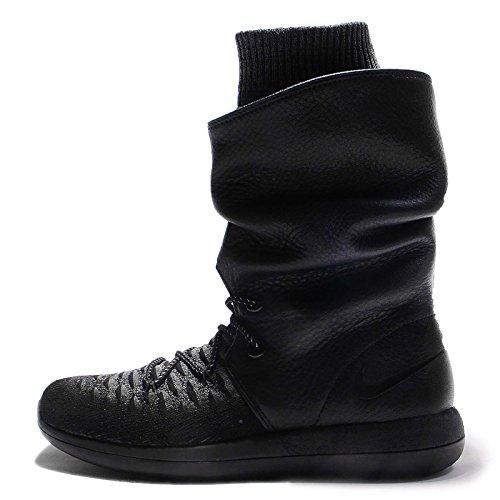 Nike Womens Roshe Two Hi Flyknit Trainers 861708 Sneakers Boots (UK 5 US 7.5 EU 38.5, Black Black Dark Grey 001) (Nike Boot Women)