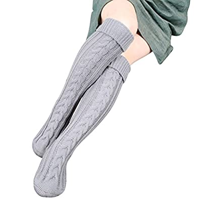 HP95(TM) Womens Girls Winter Over Knee Leg Warmer Soft Knit Crochet Sock Leggings