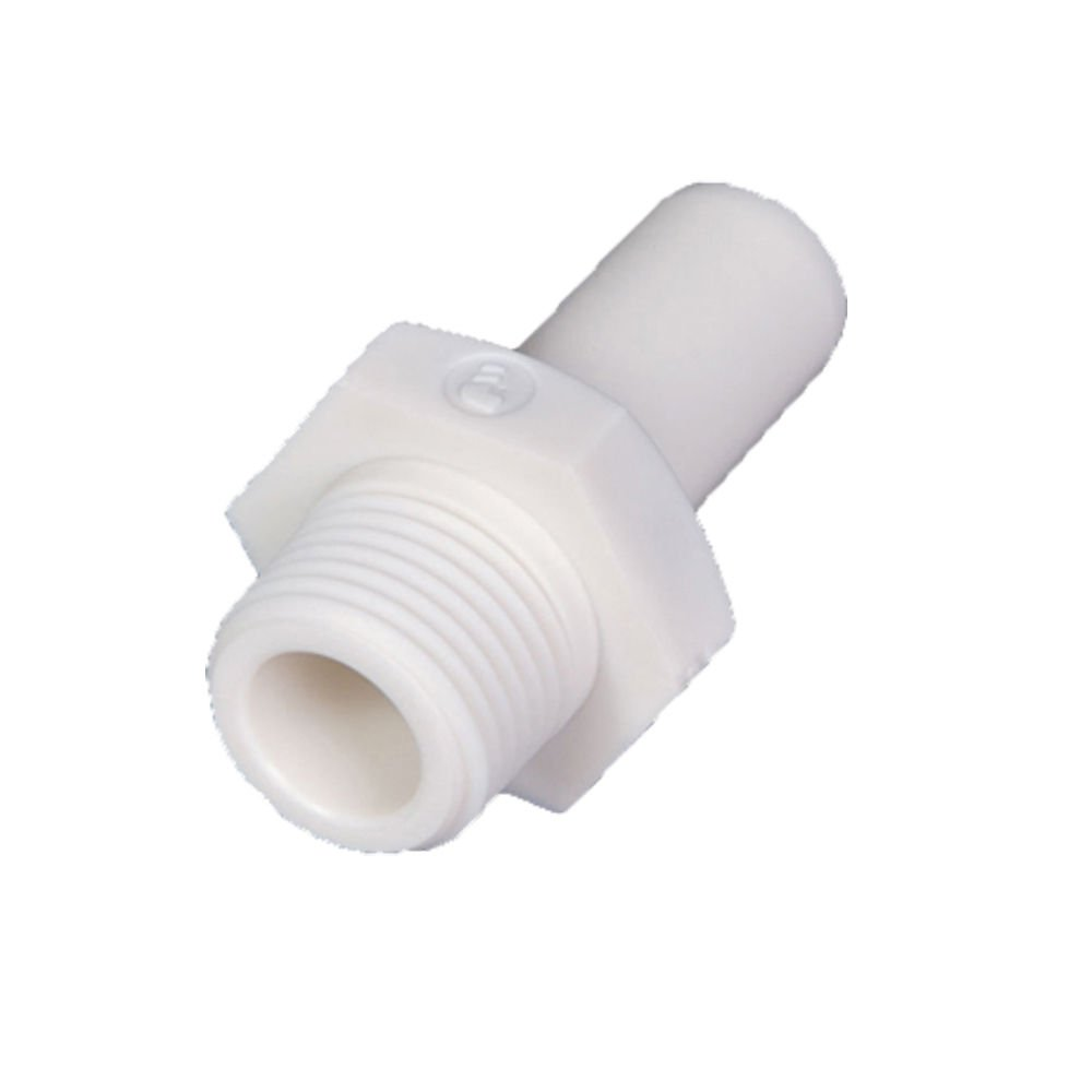 Polymer 10 mm Tube Stem and Male BSPT Adapter 1//4 Standpipe to Pipe 10 mm and 1//4 Parker 6521 10 13WP2-pk10 LIQUIfit Fitting Bio-Based Pack of 10