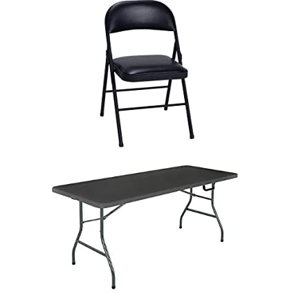 4 Pack Folding Chairs.Amazon Com Cosco Vinyl 4 Pack Folding Chair Black Cosco