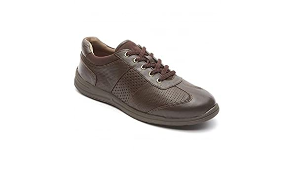 Rockport World Tour T-toe Oxford M75854 Dark Brown Leather Women/'s Shoes Size US