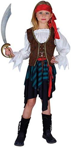 Caribbean Pirate Girls Fancy Dress Halloween Costume M (disfraz ...