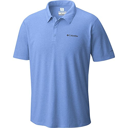 Columbia Silver Ridge Zero Polo Shirt - Men's Azul Heather, - Number Columbia Style