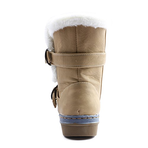 Yellow Womens Ankle Fully Lined Snow Fur Odema Anti Slip Boots qaxzBqd6wn