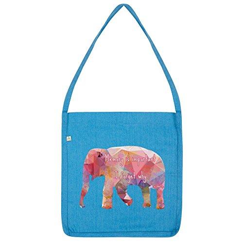 Bolsa Geométrica Envidia Es Importante Totalizador Memoria Retorcida Azul Elefante De ap8wq8