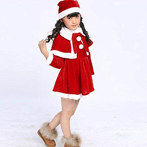 Kinder Baby Mädchen Weihnachten Kostüm Party Langarm Kleider Schal ...