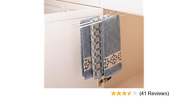 Amazoncom Rev A Shelf 3 Prong Pullout Towel Bar Sink Base