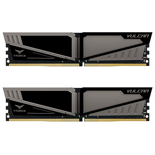 TEAMGROUP T-Force Vulcan DDR4 8GB (2x8GB) 2666MHz (PC4-21300) CL15 Desktop Memory Module ram - Gray