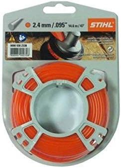 Stihl - 2.4 mm x 15 m nailon Cable de cortadora de césped parte no ...