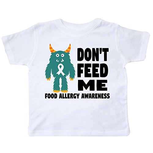 inktastic Dont Feed Me with Monster Toddler T-Shirt 4T - Food Toddlers Allergies