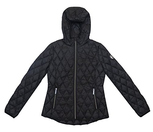 Michael Kors Black Diamond Quilted Hooded Packable (XS)