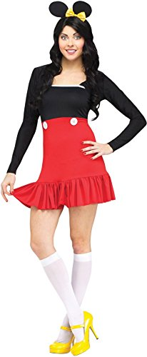 GTH Women's Animals Sexy Miss Mikki Mouse Adults Halloween Themed Costume, XS (2-4) ()