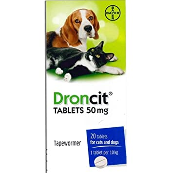 Droncit Tapewormer Tablet For Dogs and Cats (1 Tablet)