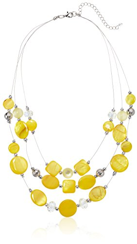 Womens Yellow Illusion Necklace, 18'' + 3'' Extender by Amazon Collection (Image #2)'