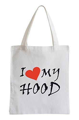 I love my Hood Fun Jutebeutel