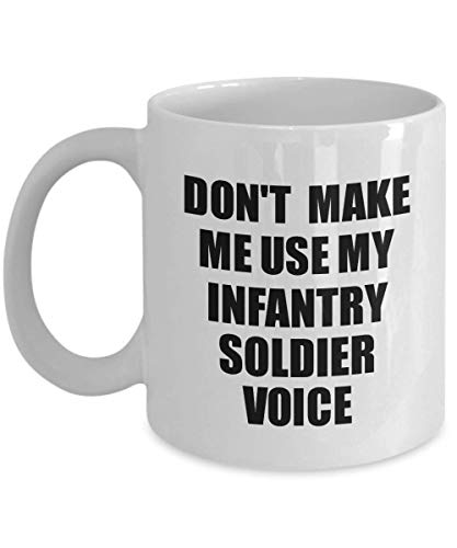 (Infantry Soldier Mug Coworker Gift Idea Funny Gag For Job Coffee Tea Cup Voice)