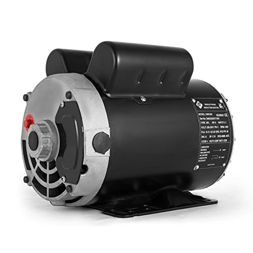 VEVOR 5 Hp Electric Motor 3.1 KW Rated Speed 3450 RPM Single Phase Motor AC 208-230V Air Compressor Motor Suit for Home and Small Shop Air ()