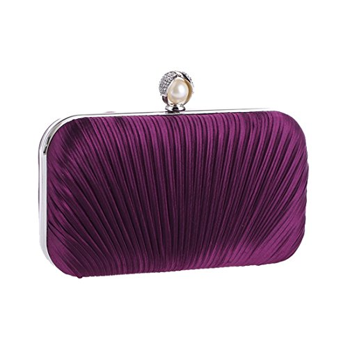 Craft Ruili Bag Purple Bag Diamond Fly Fabric Banquet America Bag Evening New Europe Bag Fashion Encrusted Women's Fold Evening Evening Bag Dark qXxaXO