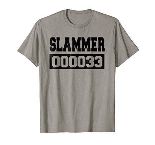 Slammer Jail Inmate Halloween Costume Tshirt Fun]()