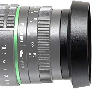 55mm Black Metal 20mm Long Standard Screw in Lens Hood 55mm Thread UK SELLER