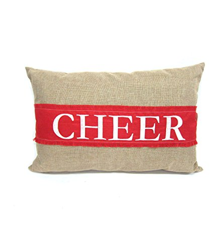 Holiday Cheer 15In X 22In Bolster Pillow (Monogram Cheer Band ~ Removable) New Years, Party, Wine & more ()