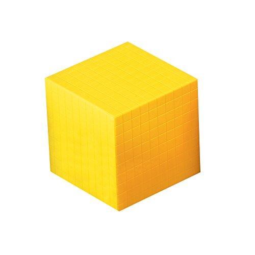 ETA hand2mind 100160 Base Ten Cube, Yellow Plastic (1000 Cubes)