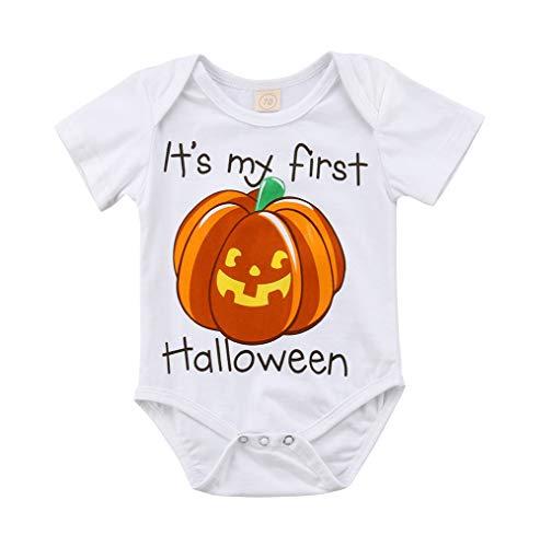 2018 It's My First Halloween Pumpkin Outfit Newborn Baby Boys Girls Halloween Costums Romper Clothes (6-12 Months, A) for $<!--$2.97-->