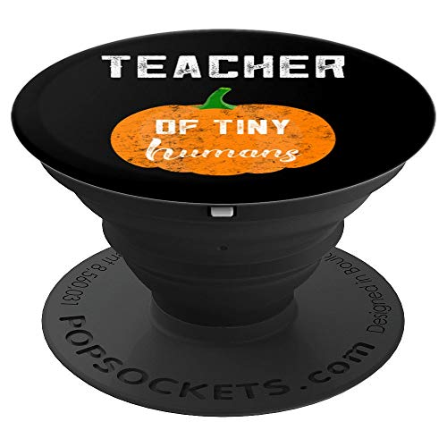 Preschool Teacher Halloween Gift Tiny Humans Kindergarten - PopSockets Grip and Stand for Phones and Tablets