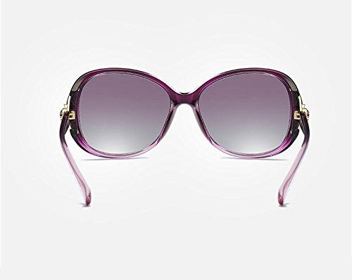 Unisex Soleil Pour Mode Violet Uv400 Grande Lunettes De Cadre Ete Femme Avec Qingsun Homme qTUCdq