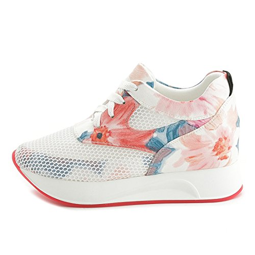 Breathable DANDANJIE Floral Shoes Mesh Women's Shoes Travel Pink Sports Shoes Low Casual Hollow Increased Shoes Surface Top r6UwT6n01q