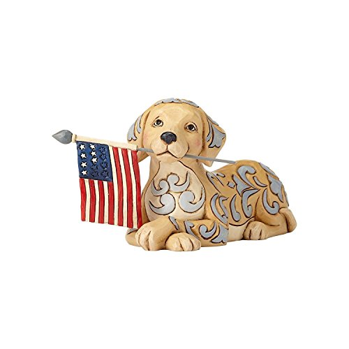 Jim Shore HWC by Enesco Dog Holding Flag Figurine]()