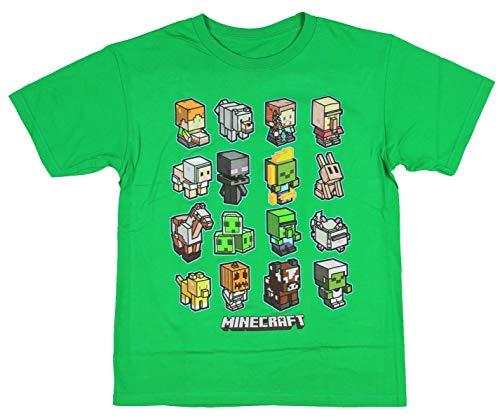 Minecraft Boys Mini Mob Character Animal T-Shirt (Kelly Green, X-Large) ()