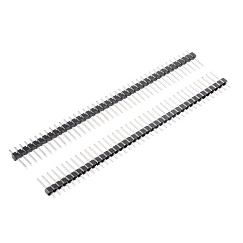 uxcell 30Pcs 2.54mm Pitch 40-Pin 15mm Length Single Row Straight Connector Pin Header Strip for Arduino Prototype Shield