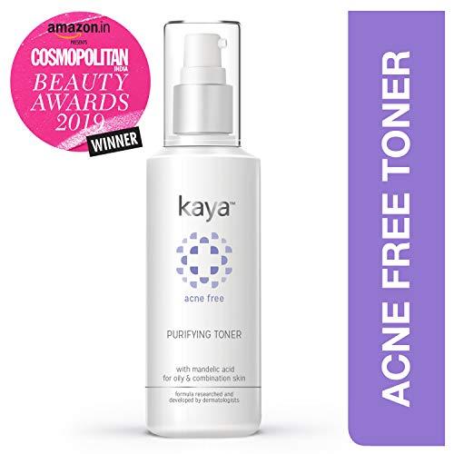 Kaya Clinic Acne Free Purifying Toner, Alcohol free Toner with Mandelic Acid & Niacinamide for combination, oily skin…