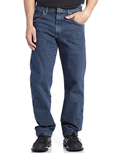 Wrangler Men's The Rugged Relaxed Fit Jeans, Medium Stone, 36X30