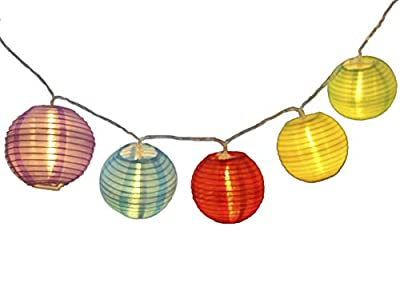 Mini skater Lantern decoration 20 LED Battery Case String Lights Multi Colors 2M Waterproof Global ball string rope outdoor fairy holiday lighting(Colored Lantern)