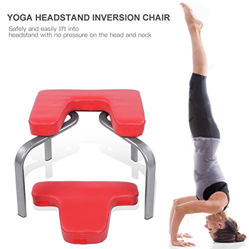 (Yosooo Yoga Exercise Chair, Bodylift Headstand Inversion Bench Headstand Fitness Build Up Body Kit Red Home Gym Office)