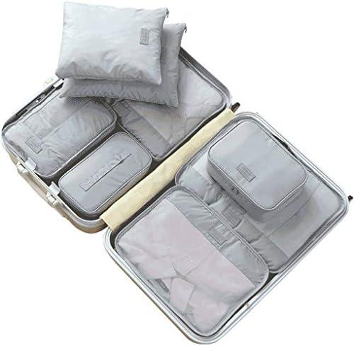 パッキングキューブ、8個の荷物オーガナイザーセット、スーツケース収納バッグ、旅行用パッキングキューブ