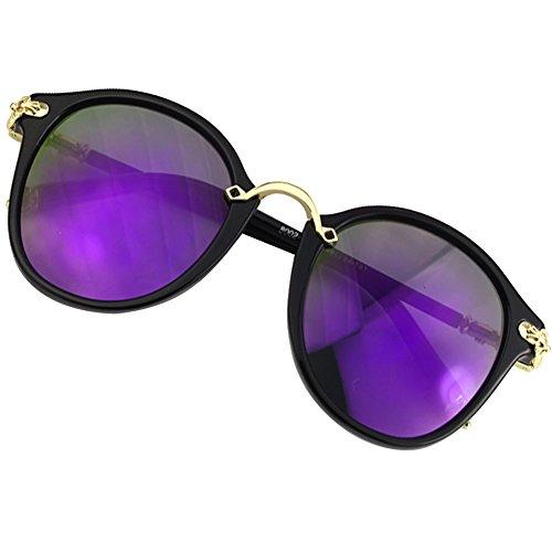 Sumery Vintage Retro Round Lens Delicate Arm Sunglasses Women UV400 4PCS (Black, - Sunglasses Junior Gaultier