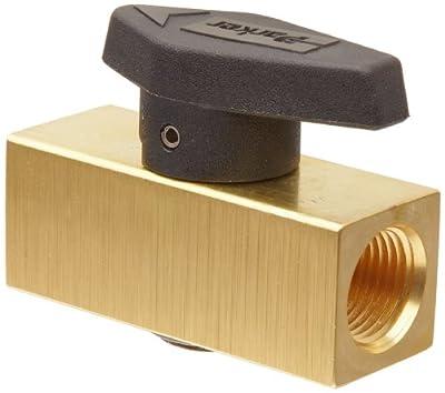 "Parker 8F-PR6-VT-B Brass Plug Valve, 1/2"" NPT Female by Parker"