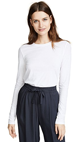 - Vince Women's Essential Tee, Optic White, Small