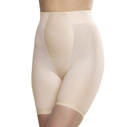 Glamorise Women's Isometric Control Long-leg Brief Shaper Girdle (30 Large, Cafe)