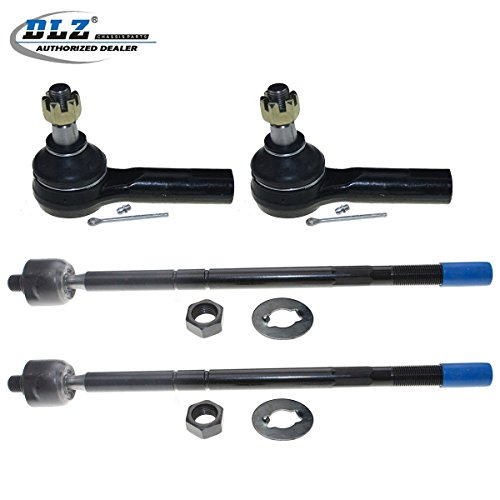 (DLZ 4 Pcs Front Suspension Kit-2 Outer 2 Inner Tie Rod Ends Compatible with 2001 2002 2003 2004 2005 2006 Ford Escape Mazda Tribute 2005 2006 Mercury Mariner)