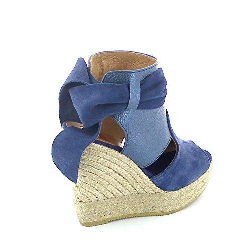 KANNA - Sandalias de Vestir de Otra Piel Mujer Azul
