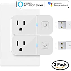 Mini Smart Plug Works with Alexa, Maxonar 2 Pack Wifi Smart Socket with Amazon echo Google Assistant Remote Voice Control Easy Connection with TP-Link WeMo Netgear Router