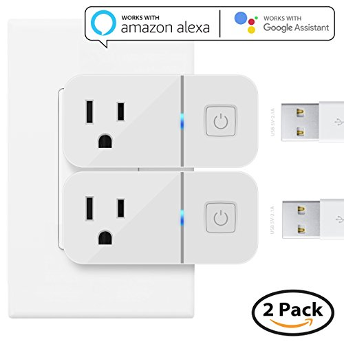 Price comparison product image Mini Smart Plug Compatible with Alexa, Maxonar 2 Pack Wifi Smart Socket with Amazon echo Google Assistant Remote Voice Control Easy Connection with TP-Link WeMo Netgear Router